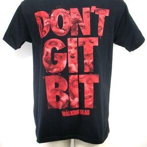 Walking Dead Shirts - Walking Dead T Shirt - Don't Git Bit - Size Large